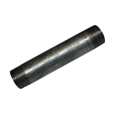 """Tubo acciaio in ferro zincato Barilotto tronchetto in acciaio zincato Ø 3/4"""" L 0.5 m"""