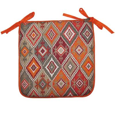 Cuscino per sedia Etnique arancione 40x40 cm