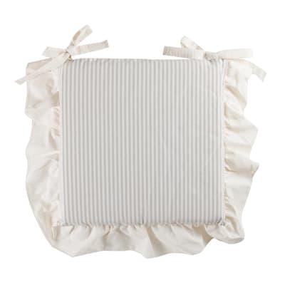 Cuscino per sedia Giorgia bianco e grigio 40x40 cm Ø 0 cm