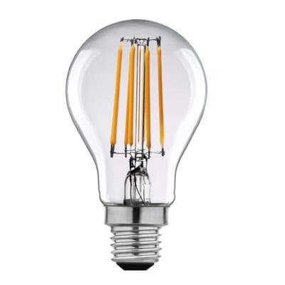 Lampadina LED filamento, E27, Goccia, Trasparente, Luce calda, 11W=1521LM (equiv 100 W), 360° , LEXMAN