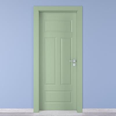 Porta a battente Coconut Groove verde L 90 x H 210 cm sinistra