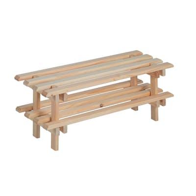 Scaffale in legno in kit 2 ripiani L 30 x P 25.9 x H 75 cm naturale