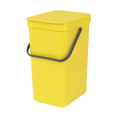 Pattumiera manuale giallo 12 L