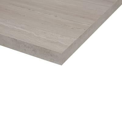 Piano cucina su misura in laminato Travertino Romano grigio , spessore 6 cm