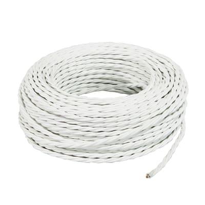 Cavo tessile MERLOTTI 3 fili x 0,75 mm² bianco 10 metri