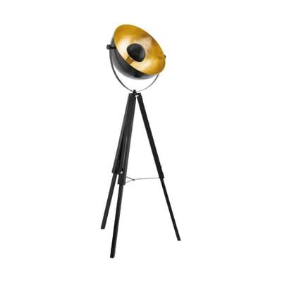 Lampada da terra Covaleda nero, oro, in metallo, H164cm, E27 MAX60W EGLO