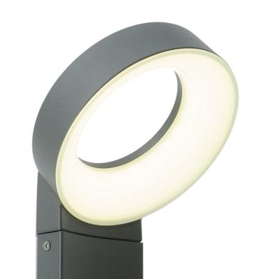 Palo della luce Lima H51cm LED integrato in alluminio grigio 14W 1100LM IP54 INSPIRE