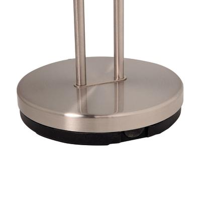 Lampada da terra Eole nichel, in metallo, H180cm, G9 2x INSPIRE