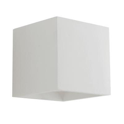 Applique gesso Rubik bianco, in calcestruzzo, G9 MAX28W IP20