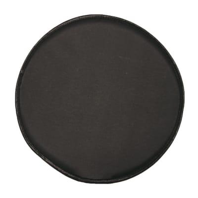 Cuscino per sedia Tondo retro antiscivolo nero 40x40 cm