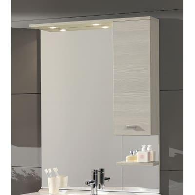 Specchio contenitore con luce Rimini L 81 x P 18.5 x H 108 cm larice laminato