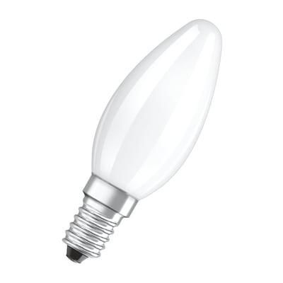 Lampadina LED, E14, Oliva, Opaco, Luce calda, 4W=470LM (equiv 40 W), 300° , OSRAM