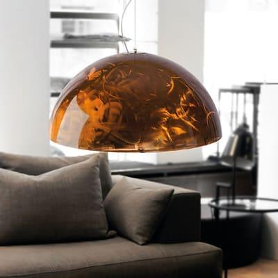 Lampadario Glamour Cassis rame in metallo, D. 60 cm, LUMICOM