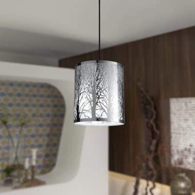Lampadario Moderno Forest cromo in metallo, D. 20 cm, L. 20 cm, INSPIRE