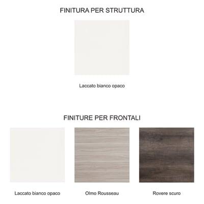 Colonna Brae 2 cassetti 1 anta L 50 x P 35 x H 174 cm bianco tranché