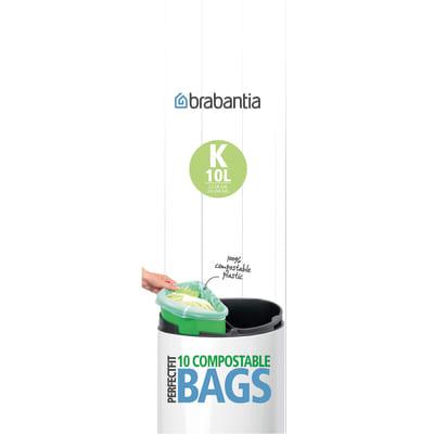 Sacchi spazzatura Compostable PerfectFit Bags K 10 L verde 10 pezzi