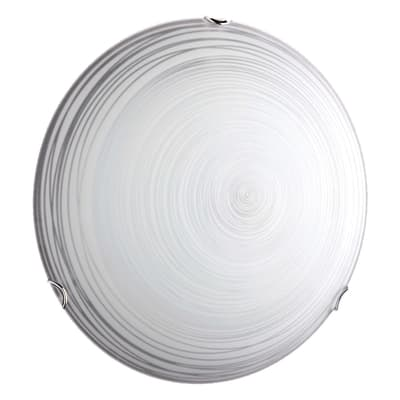 Plafoniera classico Spidi bianco, in vetro,  D. 30 cm