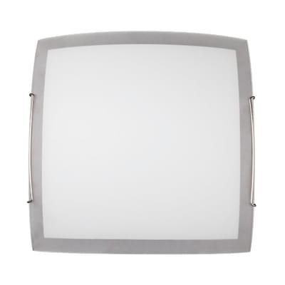Plafoniera Quadra bianco, in vetro, 30x30 cm, E27 MAX42W IP20
