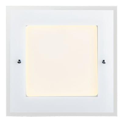 Plafoniera moderno Polly LED integrato bianco27x27 cm,