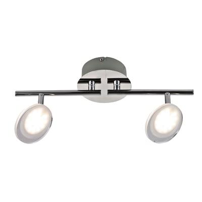 Barra di faretti Loob cromo, in metallo, LED integrato 5W 800LM IP20 INSPIRE