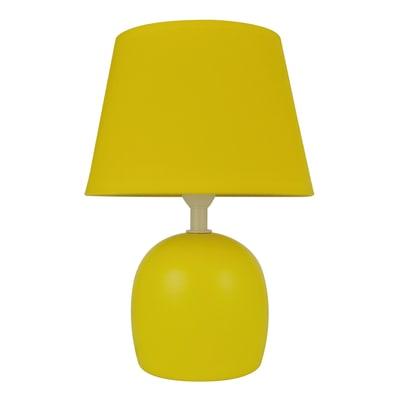 Lampada da tavolo Pop Poki giallo, in ceramica, INSPIRE