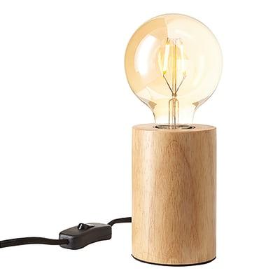 Lampada da tavolo Ralee marrone, in legno, E27 MAX 40W IP20 INSPIRE