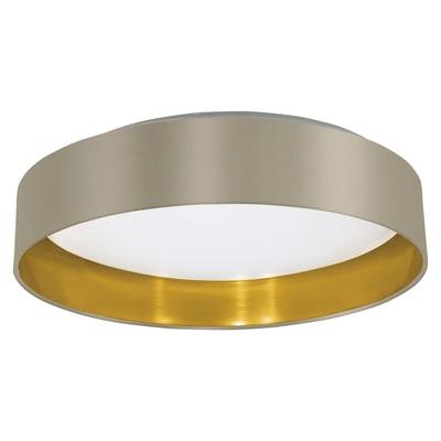 Plafoniera Maserlo oro e bianco e tortora, in metallo, diam. 40.5, LED integrato 16W 1500LM IP20 EGLO