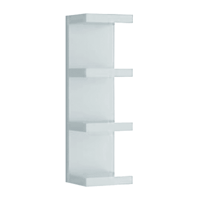Mensola a cubo Spaceo L 25.5 x H 30 cm, Sp 15 mm bianco