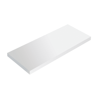 Mensola Spaceo L 56 x P 15.5 cm, Sp 1.8 cm bianco