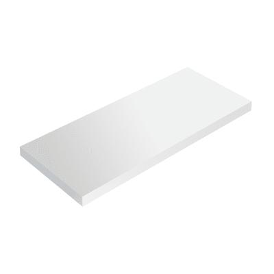 Mensola Spaceo L 56 x P 20 cm, Sp 1.8 cm bianco