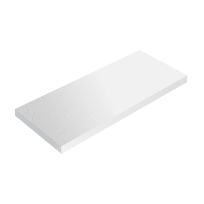 Mensola Spaceo L 76 x P 23.7 cm, Sp 2.2 cm bianco