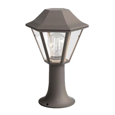 Palo della luce Curassow H30cm in alluminio, bronzo, E27 1xMAX60W IP44 PHILIPS
