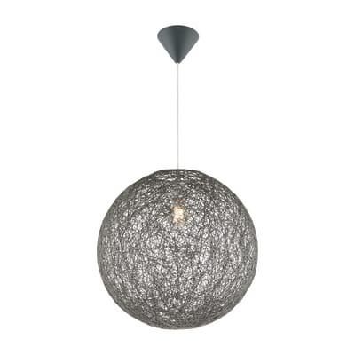 Lampadario Coropuna grigio, in carta, diam. 130 cm, E27 MAX60W IP20