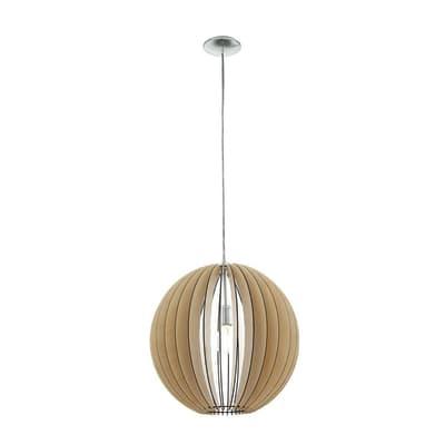 Lampadario Natura Cossano marrone in metallo, D. 50 cm, EGLO