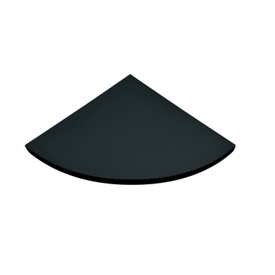 Mensola Spaceo L 35 x P 35 cm, Sp 1.8 cm nero