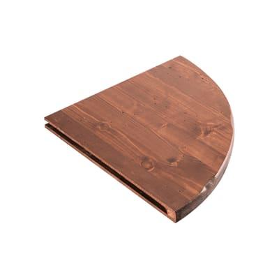 Mensola Arte povera L 35 x P 35 cm, Sp 2.4 cm noce