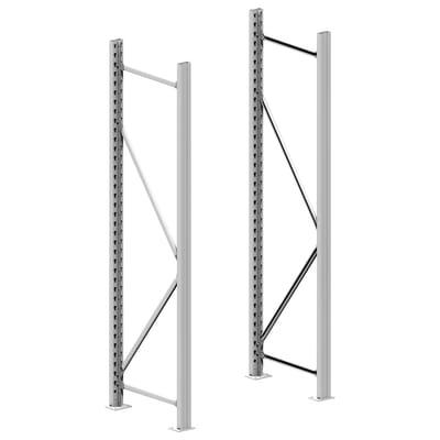 Rack metallo 55 x 195 x 5 cm bianco