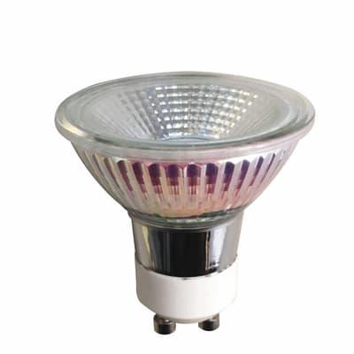 Lampadina LED GU10, Riflettore, Trasparente, Bianco, Luce naturale, 5W=345LM (equiv 50 W), 100° , LEXMAN