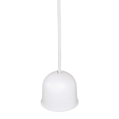 Lampadario Doppio Sbieco tortora, bianco, in tessuto, diam. 40 cm, E27 MAX60wW IP20