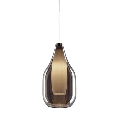 Lampadario Drop bianco, grigio, in vetro, diam. 13 cm, G9 MAX28W IP20 SFORZIN