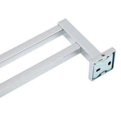 Porta salviette fisso a muro 2 barre Quaddro cromo lucido opaco L 47.8 cm