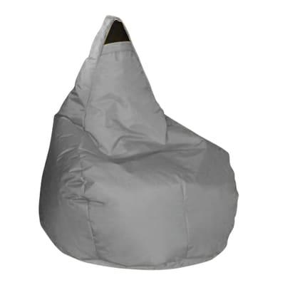 Pouf Pera idrorepellente grigio / argento 100x70cm