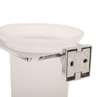 Porta scopino wc a muro Quaddro in acciaio cromo