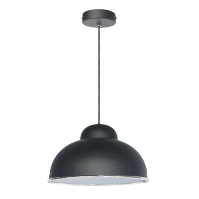 Lampadario Industriale Farell nero in metallo, D. 31.0 cm, INSPIRE