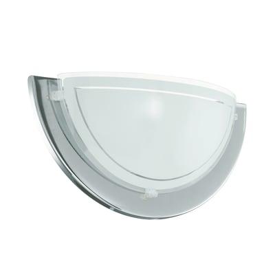 Applique Planet bianco, cromo e trasparente, in acciaio, 29 cm, E27 MAX60W IP20 EGLO