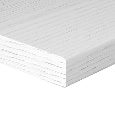 Mensola L 80 x P 25 cm, Sp 2.5 cm bianco