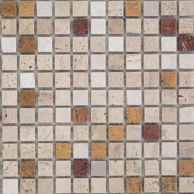 Mosaico Travertino H 30.5 x L 30.5 cm marrone, beige