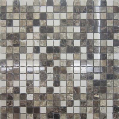 Mosaico Mineral Marble Mix Brown H 30.5 x L 30.5 cm marrone