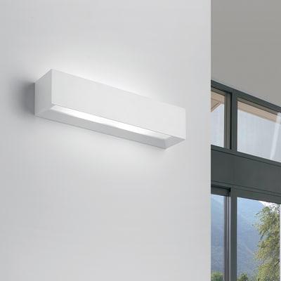 Applique design Hermione bianco, in gesso, 7x35 cm, 2 luci TECNICO