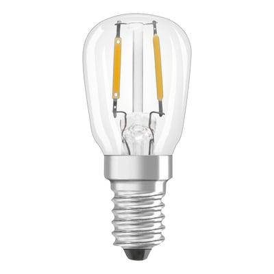 Lampadina LED filamento, E14, Bulbo, Trasparente, Luce calda, 1.3W=110LM (equiv 10 W), 320° , OSRAM